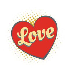 word love heart vector image vector image