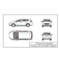 Car van drawing outlines not converted to objects vector