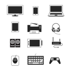 Computer electronic device templates vector image vector image