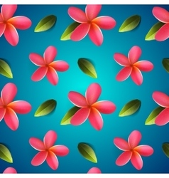 Frangipani seamless pattern Songkran Festival vector image