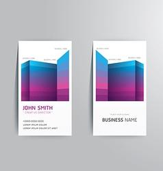 Modern creative business card template vector