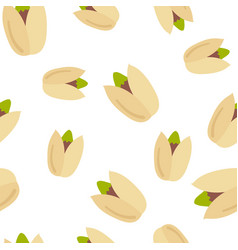 seamless pattern pistachio nuts vector image vector image