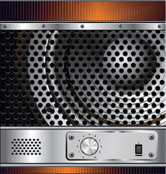 Speaker grill background vector image vector image
