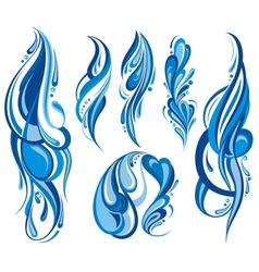 Water waves vector