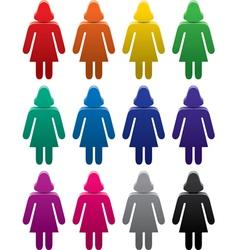 woman sympols set vector image vector image