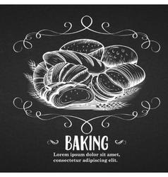 Banner baking hand drawn vector
