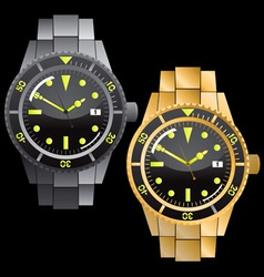 chronograph watches vector image