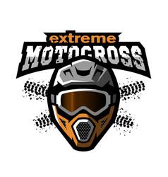 extreme motocross logo vector image vector image