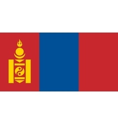Flag of mongolia correct size and colors vector