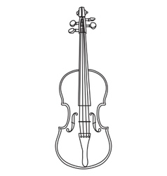 Line style violin isolated on white background vector image