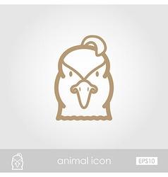 Quail outline thin icon Animal head symbol vector image vector image