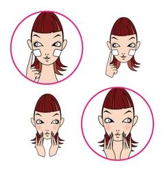 Face Woman 03 vector image