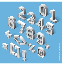 Isometric Alphabets vector image vector image