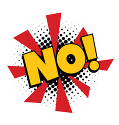 no comic word vector image