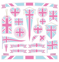 pink and blue uk vector image