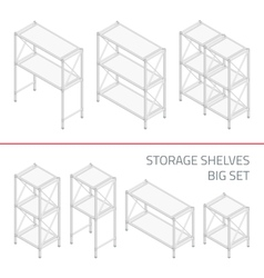 Storage shelves big set vector image vector image