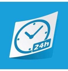 24h sticker vector