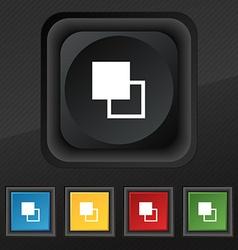 Active color toolbar icon symbol set of five vector