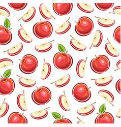 Apple seamless pattern vector