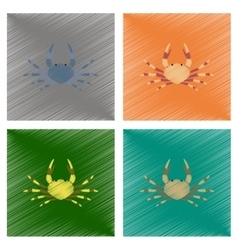assembly flat shading style animal vector image