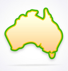 Australia map simplified and stylized stylized vector
