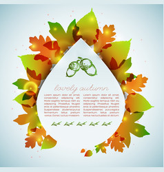 autumn decorative card vector image