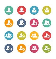 Avatar icons fresh colors vector