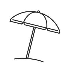 Beach umbrella linear icon vector