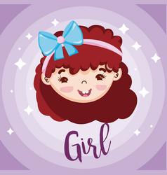 Beautiful girl face vector
