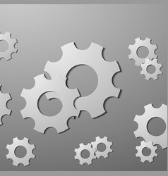 Black cogs gears on white background vector