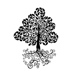 Black tree symbol vector image
