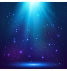 Blue magic light background vector image