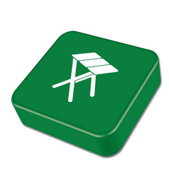 Camping stool ico vector