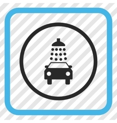 Car Wash Icon In a Frame vector