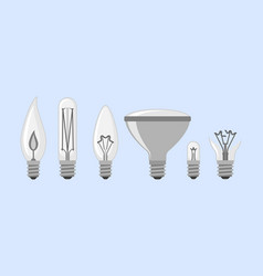 Cartoon lamp light bulb design flat vector