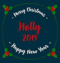Christmas and new year card with fir branches vector