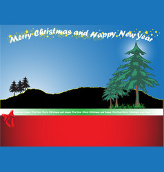 christmas background with mountain and christmas vector image