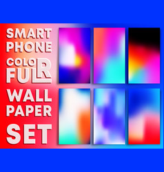 colorful gradient texture wallpaper templates vector image