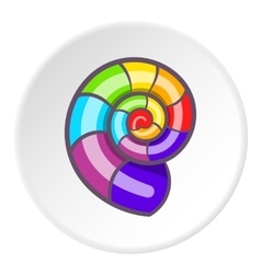 Curl in colours of LGBT icon cartoon style vector