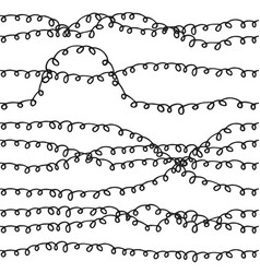 Cute curly hand drawn seamless pattern vector