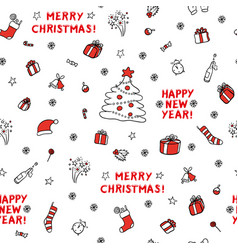 cute set sketch seamless pattern of vector image