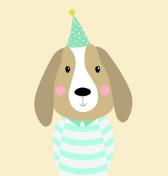 dog head card vector image