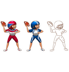 drafting character for american football player vector image