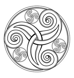 Fantasy drawing amazing celtic disk ornament vector