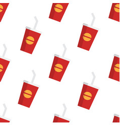 fast food sweet soda drink seamless pattern vector image