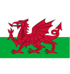 Flag of wales in national colors vector