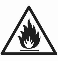 Flammable hazard symbol vector