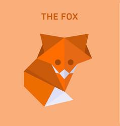 Fox origami flat polygons vector