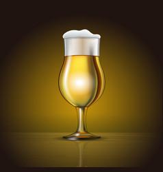 glass beer with foam vector image