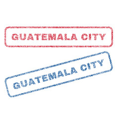 guatemala city textile stamps vector image